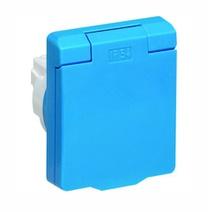 Розетка schuko панел,2P+E,IP54,синяя ABB UJP