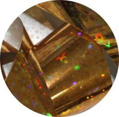 Фольга для литья и кракелюра  Royal (34) золото голографическая звезда