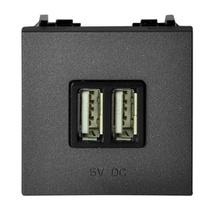 Мех. USB зарядн. устр., ABB NIE Zenit Антрацит
