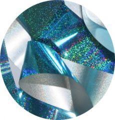 Фольга для литья и кракелюра Roya (39) голубой голографический песок