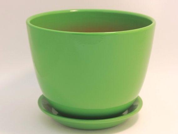 Горшок Милан глянец зеленый