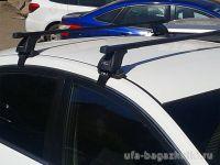 Багажник на крышу Nissan Sentra, Lux, прямоугольные стальные дуги