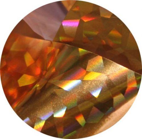 Фольга для литья и кракелюра Royal (48) золото голографический кристалл
