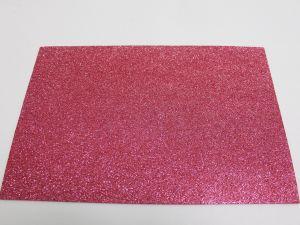 """Фоамиран """"глиттерный"""" с клеевой основой, Китай, толщина 2 мм, размер 20x30 см, цвет: розовый  (1уп = 5листов)"""