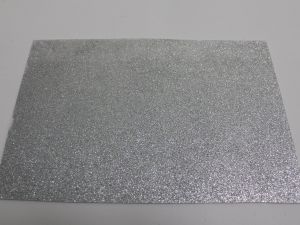 """Фоамиран """"глиттерный"""" с клеевой основой, Китай, толщина 2 мм, размер 20x30 см, цвет серебро (1уп = 5листов)"""