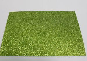 """Фоамиран """"глиттерный"""" с клеевой основой, Китай, толщина 2 мм, размер 20x30 см, цвет зеленый (1уп = 5листов), Арт. ФИ0020"""