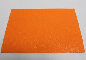 """Фоамиран """"глиттерный"""" с клеевой основой, Китай, толщина 2 мм, размер 20x30 см, цвет оранжевый (1уп = 5листов)"""