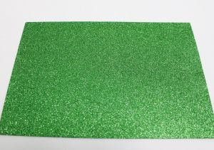 """Фоамиран """"глиттерный"""" с клеевой основой, Китай, толщина 2 мм, размер 20x30 см, цвет зеленый (1уп = 5листов), Арт. ФИ0023"""