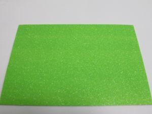 """`Фоамиран """"глиттерный"""" с клеевой основой, Китай, толщина 2 мм, размер 20x30 см, цвет светло-зеленый"""