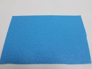 """`Фоамиран """"глиттерный"""" с клеевой основой, Китай, толщина 2 мм, размер 20x30 см, цвет голубой"""