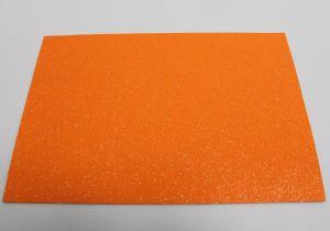 """`Фоамиран """"глиттерный"""" с клеевой основой, Китай, толщина 2 мм, размер 20x30 см, цвет оранжевый"""