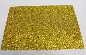 """`Фоамиран """"глиттерный"""" с клеевой основой, Китай, толщина 2 мм, размер 20x30 см, цвет золото"""