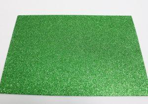 """`Фоамиран """"глиттерный"""" с клеевой основой, Китай, толщина 2 мм, размер 20x30 см, цвет зеленый, Арт. Р-ФИ0023"""