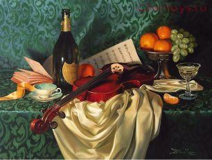 Картина по номерам Натюрморт со скрипкой Y1176