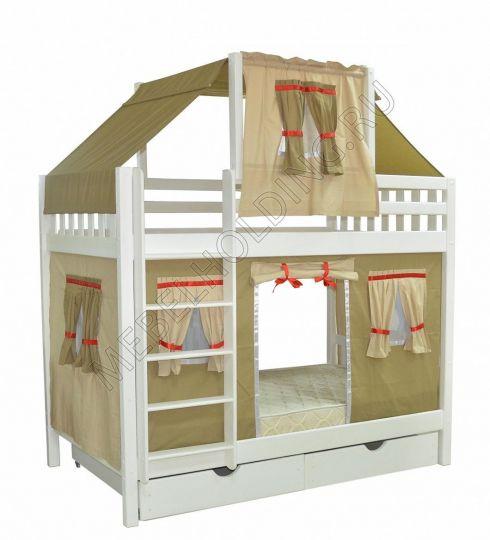 Двухъярусная игровая кровать Скворушка-5