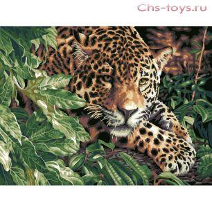 Картина по номерам Леопард E254
