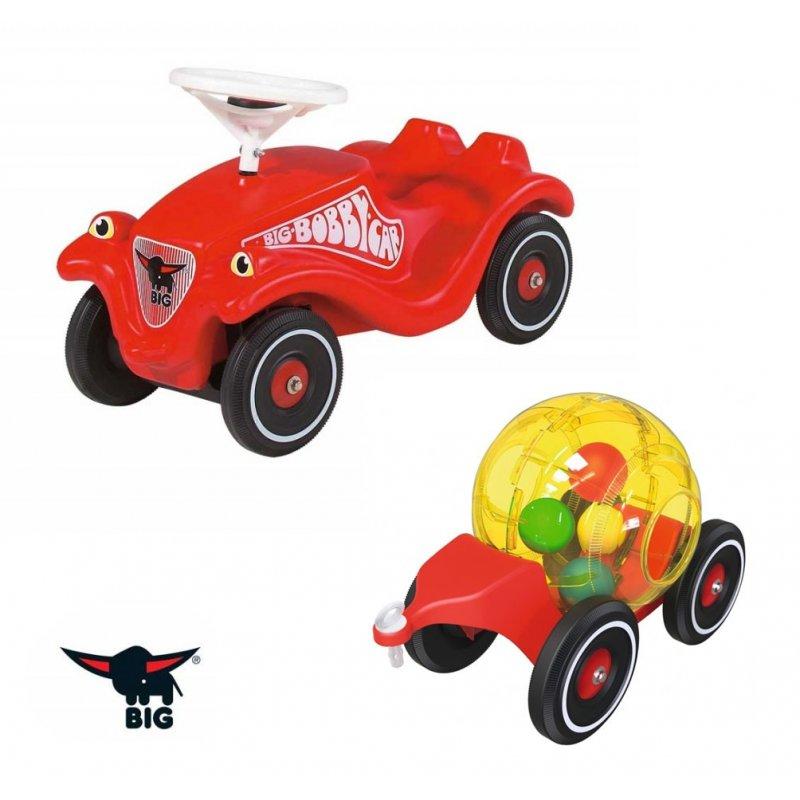 Машинка каталка — BIG Bobby-Car- Classic с прицепом
