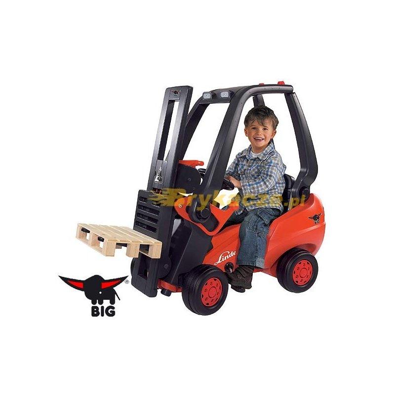 Автопогрузчик педальный вилочный Linde Forklift Big