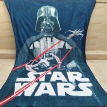 Плед одеяло флисовый Звездные войны 157х229 см
