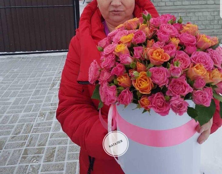 Коробочка Макси из кустовых роз