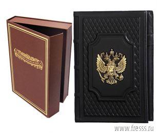 Ежедневник из натуральной кожи в футляре, А5, Россия