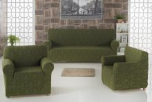 "Набор чехлов для дивана ""KARNA"" MILANO + 2 кресла (зеленый) Арт.2683-2"