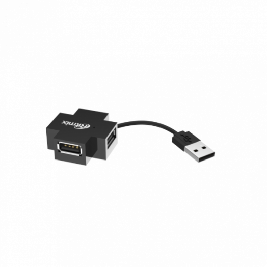Концентратор USB (HUB) Ritmix CR-2404 black черный