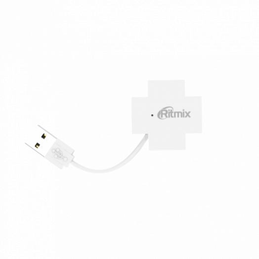 Концентратор USB (HUB) Ritmix CR-2404 White Белый