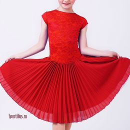 Платье для бальных танцев, красное