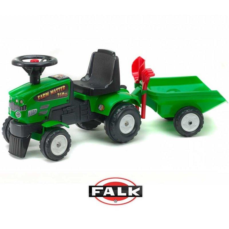 Трактор-каталка с прицепом Falk Baby Farm Mustang