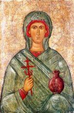 Икона Анастасия Узорешительница (копия 15 века)