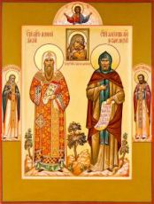 Икона Алексий Московский и Александр Невский