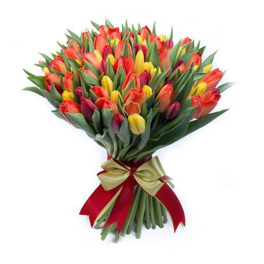 Букет цветов СОЧНЫЙ ТЮЛЬПАН