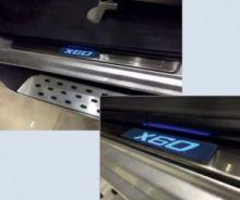 Накладки на пороги с LED подсветкой, Оригинал