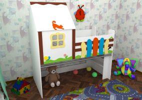 Кровать-чердак «Сказочный домик»