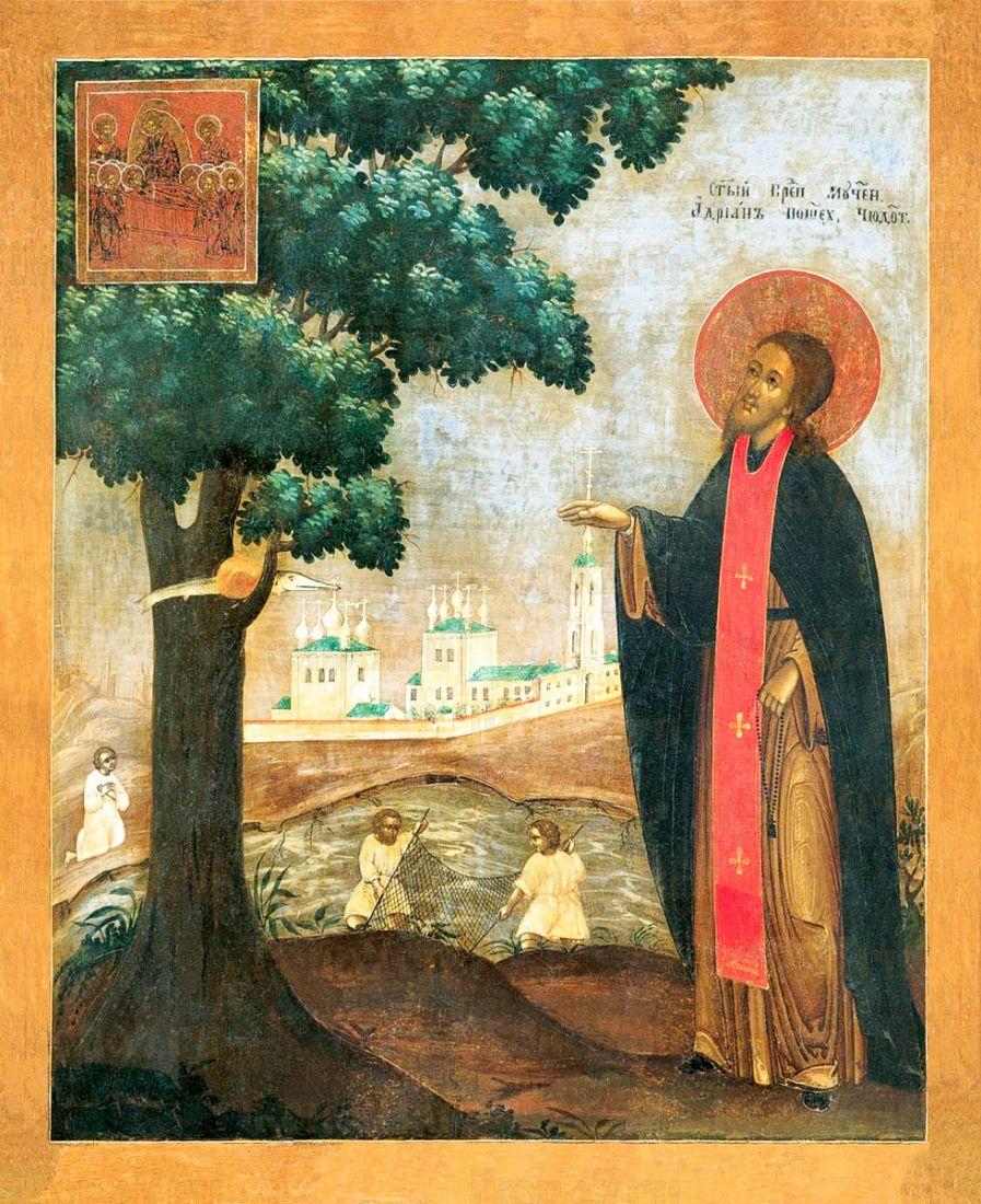 Икона Адриан Пошехонский (копия 19 века)