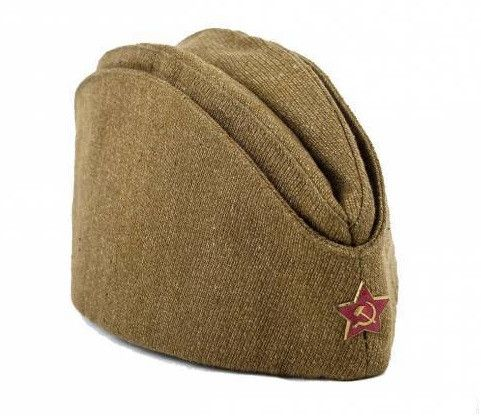 Военная Пилотка Со Звездой, Размер 58 См + Георгиевская Лента  Подарок