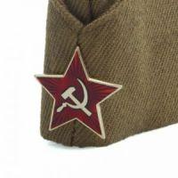 Военная пилотка со звездой + георгиевская лента в подарок (2)