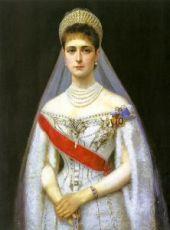 Александра Федоровна Романова (портрет на дереве)
