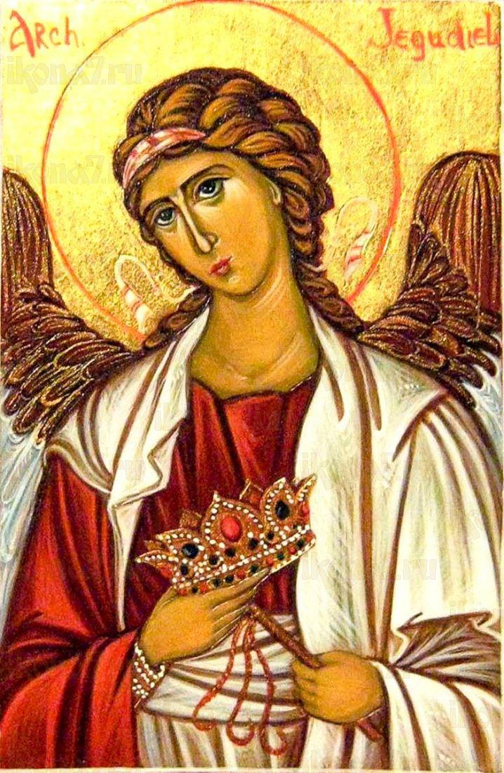 Иегудиил Архангел (икона на дереве)