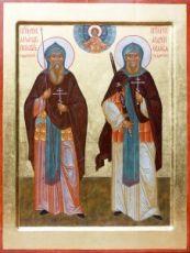 Икона Александр Пересвет и Андрей Ослябя