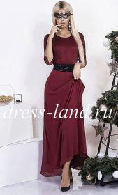 Платье макси бордового цвета
