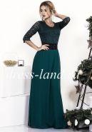 Платье макси зеленого цвета