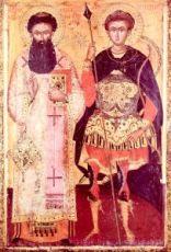 Григорий Палама и Димитрий Солунский (копия старинной иконы)