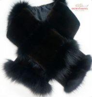 Комбинированный шарф из меха норки и песца