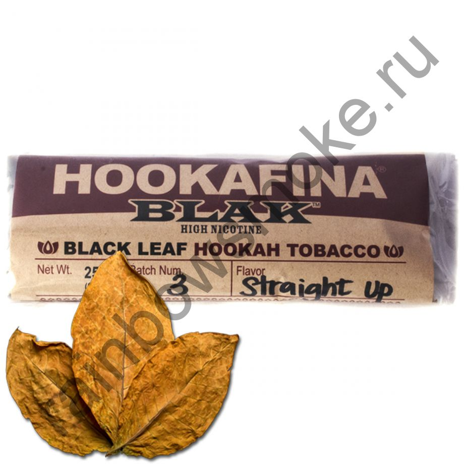Hookafina Black 250 гр - Straight Up (Прямо к Делу)