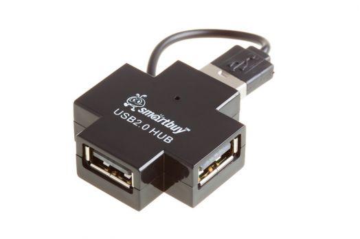 Концентратор USB (HUB) Smartbuy 4 порта черный (SBHA-6900-K)