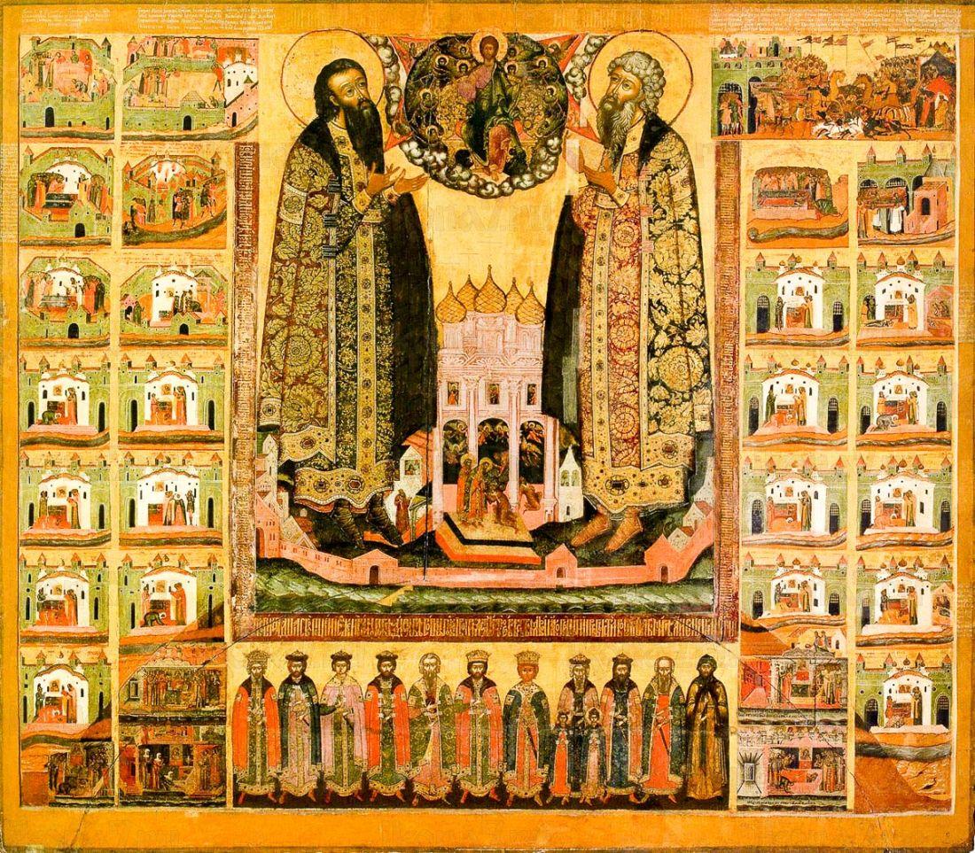 Икона Василий и Константин Ярославские (копия старинной)