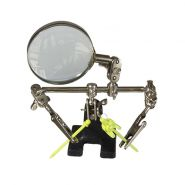 Подставка-держатель с увеличительным стеклом, 2 зажима