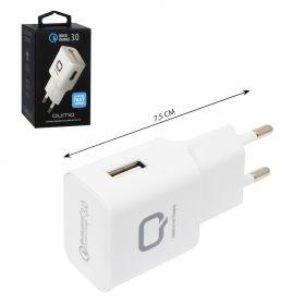 Сетевое зарядное устройство Qumo Quick Charge 3.0, 2А 1USB